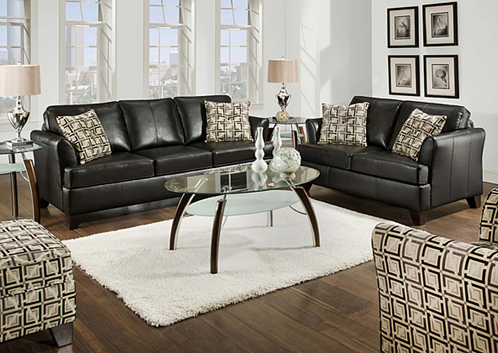 Ordinaire URBAN ONYX BONDED LEATHER MATCH / GREECE GRANITE SOFA,United Furniture
