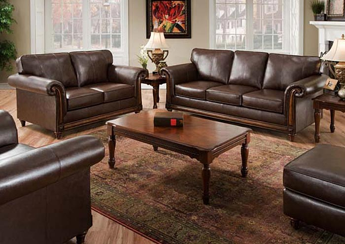 Furniture Discounters PDX SAN DIEGO COFFEE BONDED LEATHER ...