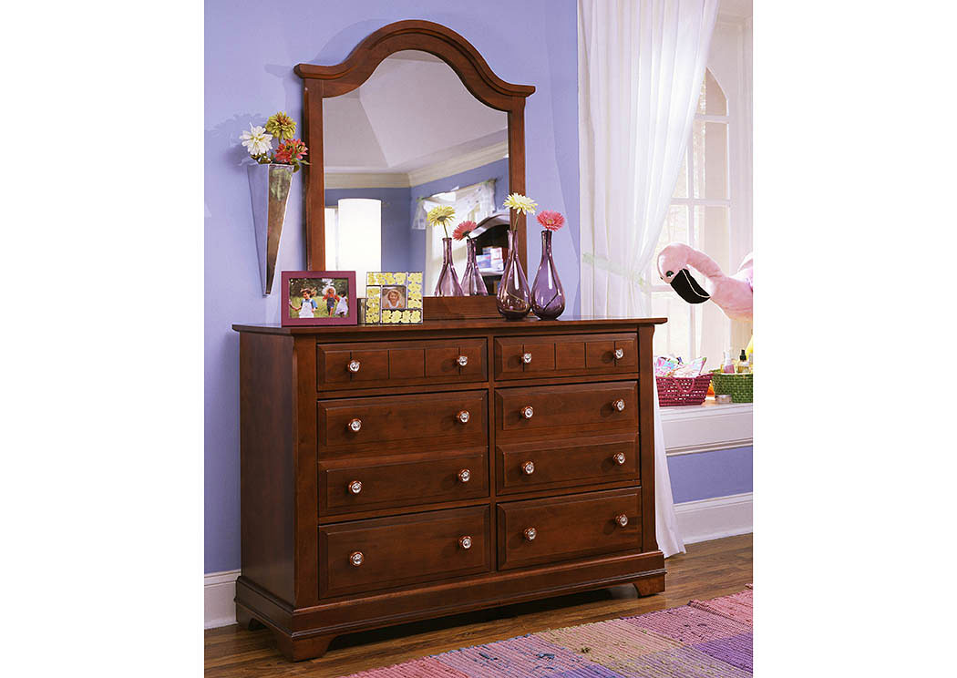 The Cottage Collection Cherry Double 6 Drawer Dresser,Vaughan-Bassett