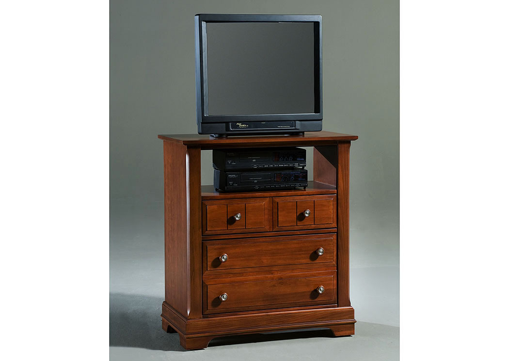 The Cottage Collection Cherry 2 Drawer Media Cabinet,Vaughan Bassett