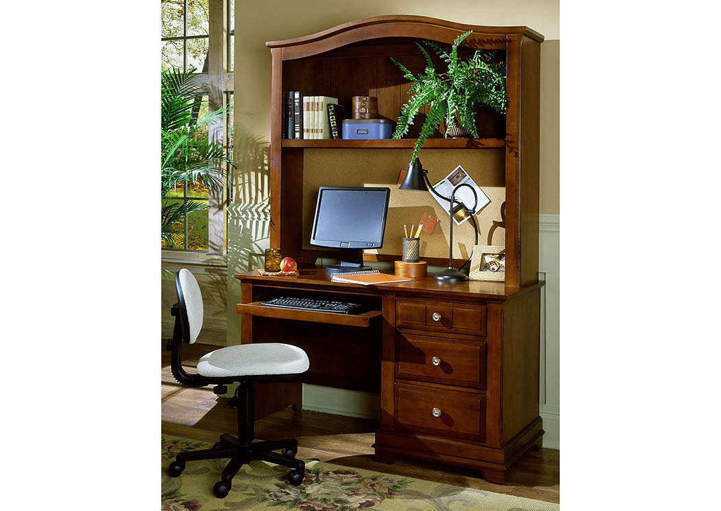 The Cottage Collection Cherry Computer Desk w/ Hutch,Vaughan-Bassett