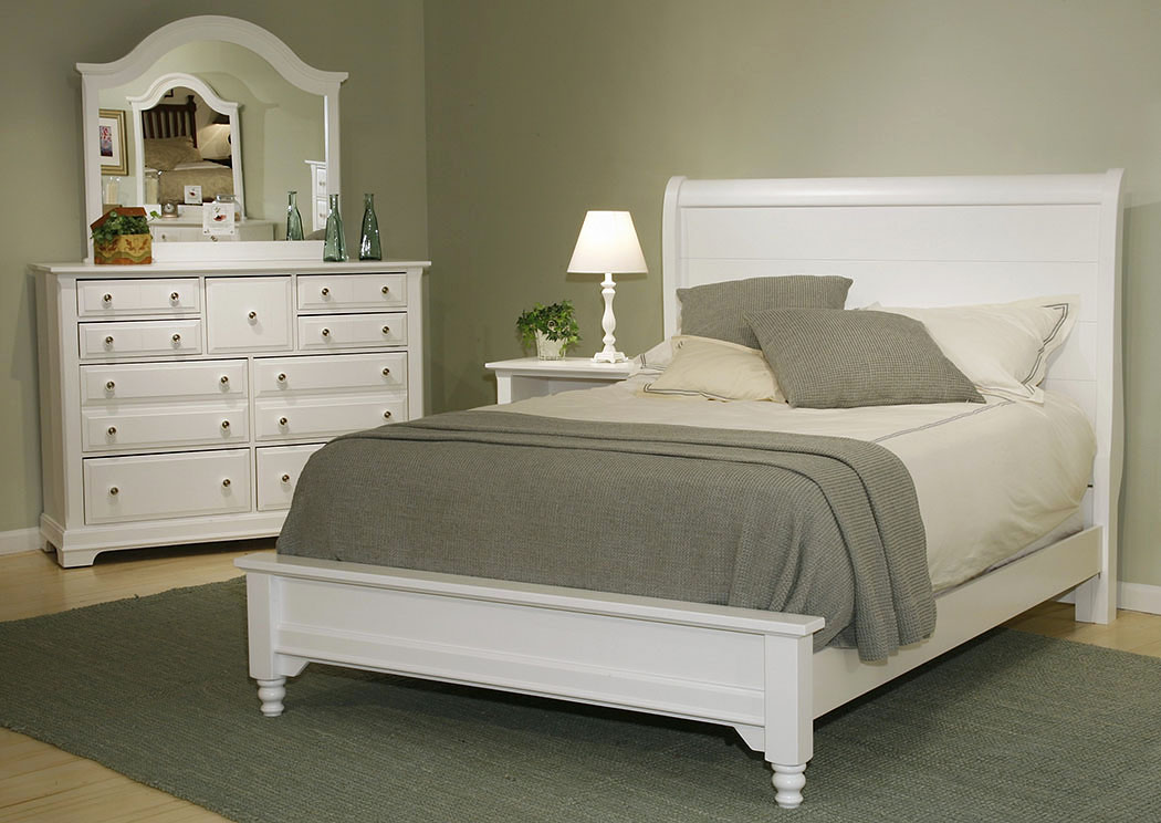 The Cottage Collection Snow White Full Sleigh Platform Bed,Vaughan-Bassett