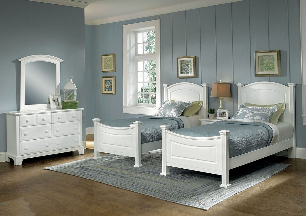 Corvin S Furniture Hamilton Franklin Snow White Twin Panel Bed
