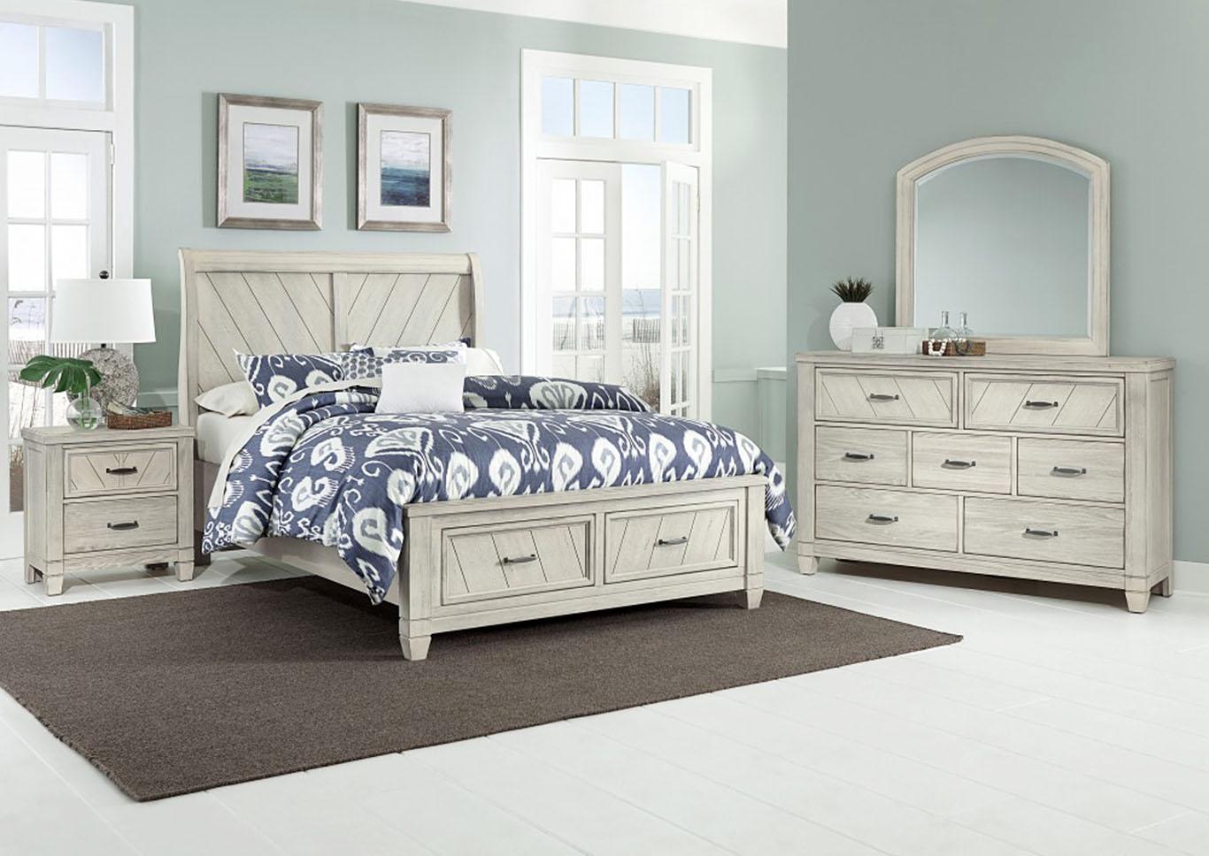 Rustic Cottage White 5 Drawer Dresser Jarons