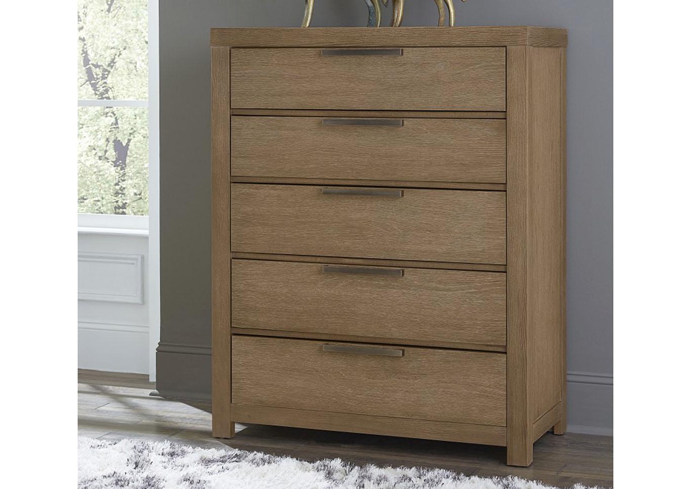 Stupendous Penlands Furniture American Modern Natural 5 Drawer Chest Download Free Architecture Designs Itiscsunscenecom