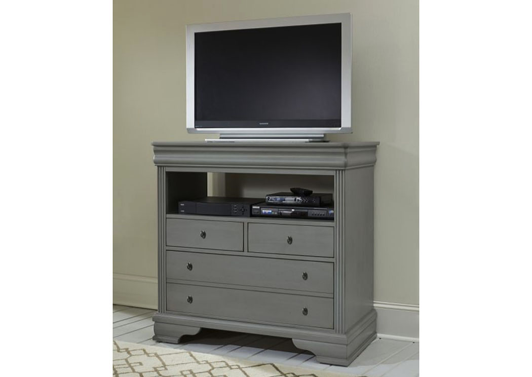 French Market Zinc 4 Drawer Media Chest,Vaughan-Bassett