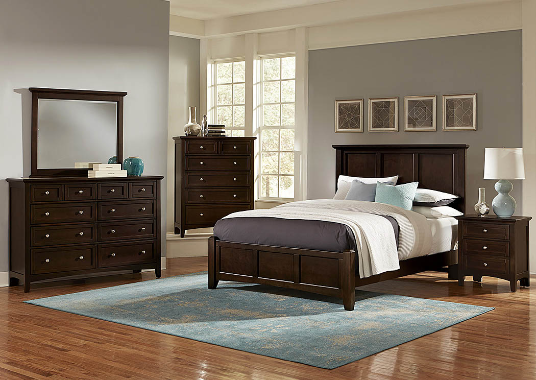 Bonanza Merlot Queen Panel Bed,Vaughan-Bassett