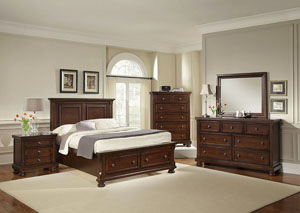 Reflections Dark Cherry King Storage Bed