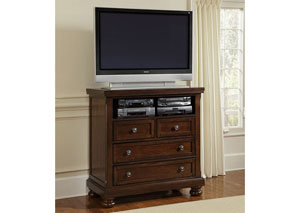 Reflections Dark Cherry Entertainment Center w/ 4 Drawers