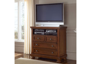 Reflections Medium Cherry 4 Drawer Entertainment Center