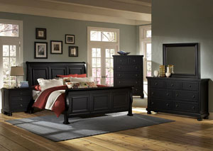Reflections Ebony King Sleigh Bed