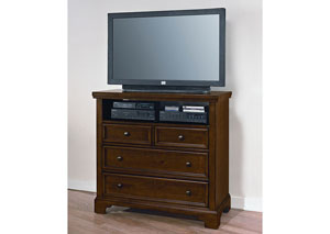 Hanover Cherry 4 Drawer Media Chest