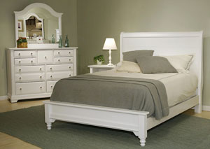 Image for The Cottage Collection Snow White Full Sleigh Platform Bed