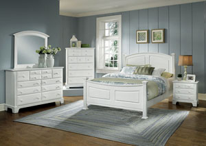 Hamilton/Franklin Snow White King Panel Bed