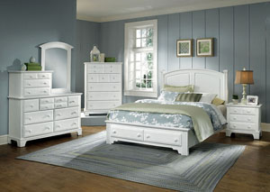 Hamilton/Franklin Snow White King Storage Bed