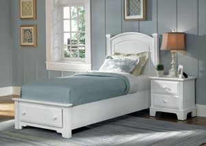 Hamilton/Franklin Snow White Twin Storage Bed