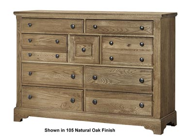 Artisan Choices Shadow Villa Triple Dresser - 9 Drawer