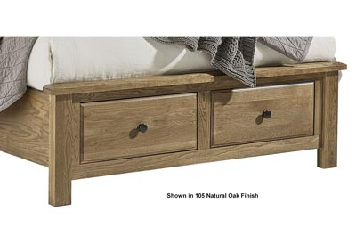 Artisan Choices Dark Oak King Storage Bed