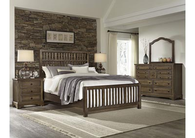 Artisian Choices Slat Queen Bed  w/Dresser&Mirror