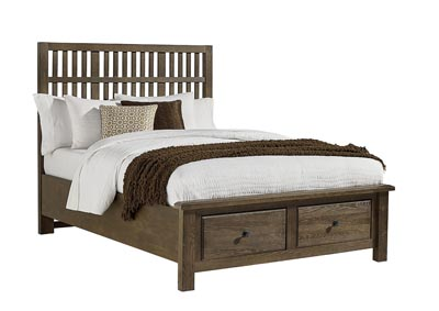 Artisian Choices Slat King Bed w/ Storage Footboard