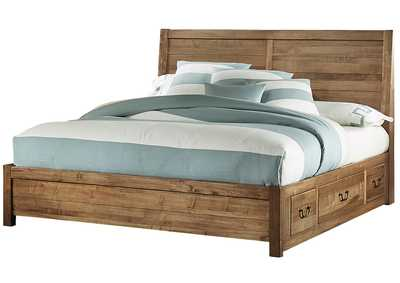 Sedgwick Plank Headboard&Storage 5/0 w/Low Profile Footboard 5/0