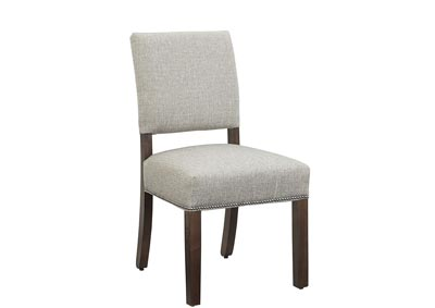 Image for Simply Dining Gray Nickel Upholstery Side Chair/Grey