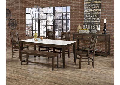 "Image for Simply Dining Gallery Kitchen Leg Table Base w/2 Arm Chair & 2 Side Chair and 52"" Bench"