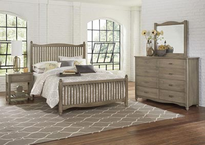 Image for American Maple Grey Full Panel Bed w/Slat Headboard