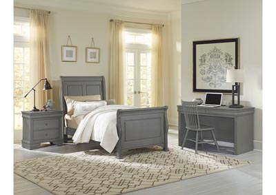 French Market Full Poster Bed w/ Desk, Chair and Nightstand