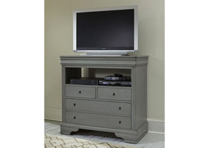 French Market Zinc 4 Drawer Media Chest