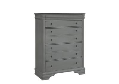 French Market Zinc Storage Chest - 5 Drawer,Vaughan-Bassett