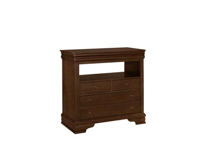 French Market French Cherry Media Chest - 4 Drawer,Vaughan-Bassett