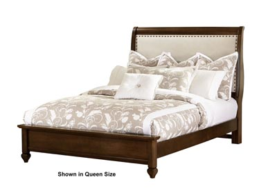 French Market Deep Oak Upholstery Queen Bed Linen