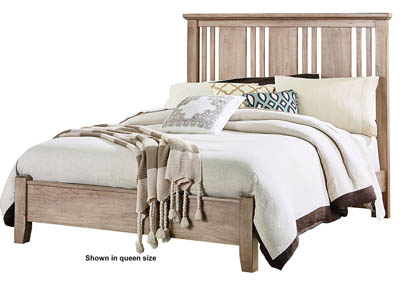 American Cherry Sandstone King Platform Bed