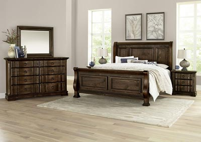 Rustic Hills Coffee Queen Sleigh Bed