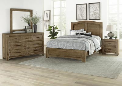 Cottage Too Grey Mansion Queen Panel Bed