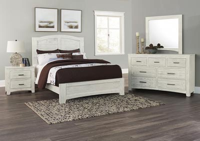 Cottage Too White Queen Panel Bed