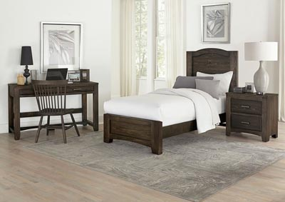 Cottage Too Coffee Mansion Twin Panel Bed