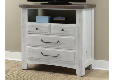 Sawmill Alabaster White Media Chest
