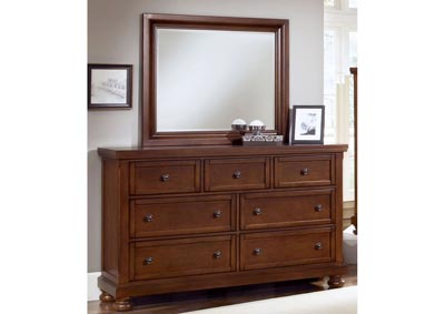 Reflections Espresso Triple Dresser - 7 Drawer  /w Mirror,Vaughan-Bassett