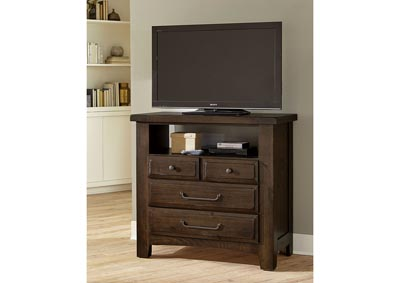 Image for Sawmill Taupe Media Chest - 4 Drawer