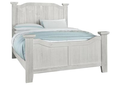 Sawmill Alabaster White Arched Queen Bed