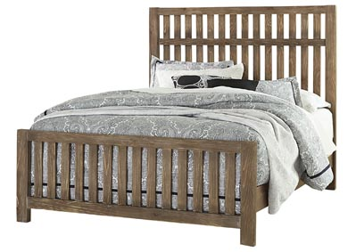 Cottage Too Roman Coffee Slat King Bed