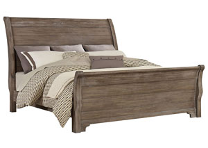 Whiskey Barrel Rustic Gray Queen Sleigh Bed