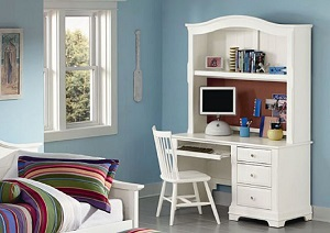 Image for The Cottage Collection Snow White Computer Desk w/ Hutch