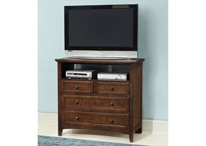 Bonanza Cherry 4 Drawer Media Unit