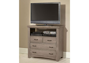 Transitions Driftwood Oak 4 Drawer Media Chest