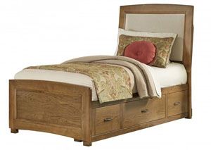 Transitions Dark Oak Twin Panel Bed
