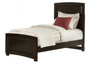 Transitions Merlot Twin Panel Bed