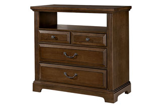 Woodlands Oak 4 Drawer Media Chest